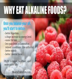 Why Eat Alkaline Foods? When we eat acid-forming foods, our body works to bring our blood pH back into balance by releasing alkaline-rich minerals into our bloodstream (e.g. calcium, phosphorus and magnesium).