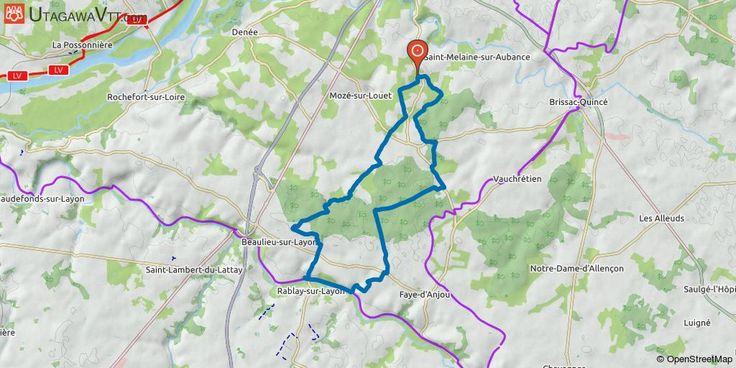 [Maine-et-Loire] Soulaines-sur-Aubance - Layon Il s'agit de la trace de la rando de Soulaines-sur-Aubance raccourcie de quelques kilomètres pour une sortie de 1h30 - 2h. Je vous conseille de la faire dans le sens de la trace car il y a une belle descente sur le Layon.  Rando réalisable par tous les temps.