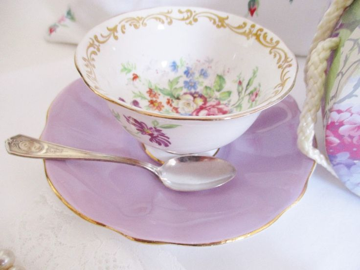 Excited to share the latest addition to my #etsy shop: VINTAGE SUGAR BOWL with mis-matched underplate, stunning Royal Albert & Queen Anne combination, mauve and florals, excellent condition http://etsy.me/2CzASfz #housewares #serving #ceramic #teaset #englishgardenteas