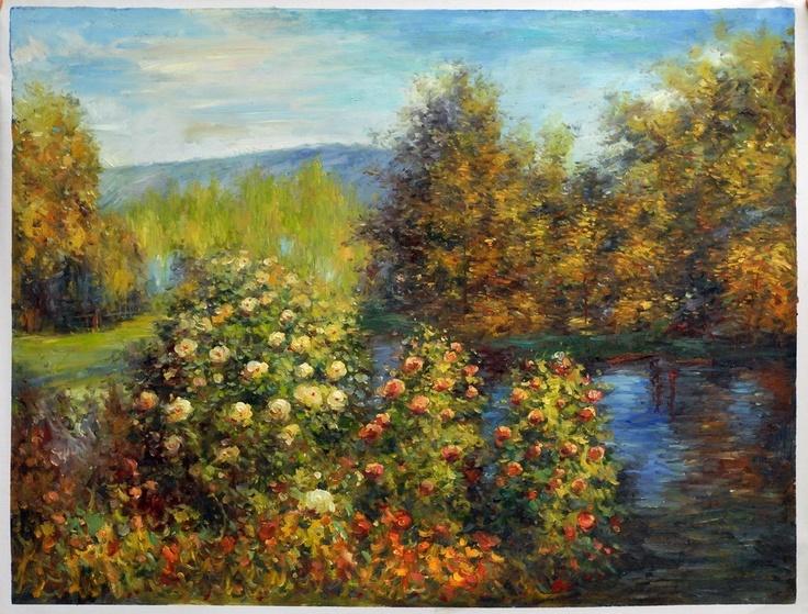 Monet, De tuin van Montgeron. 1877. 175*194 cm.