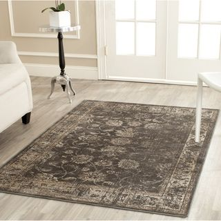 Safavieh Vintage Soft Anthracite Viscose Rug (8' x 11'2) | Overstock.com Shopping - Great Deals on Safavieh 7x9 - 10x14 Rugs
