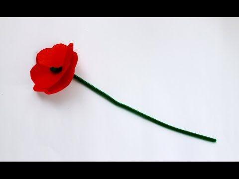Make a red poppy - Kidspot