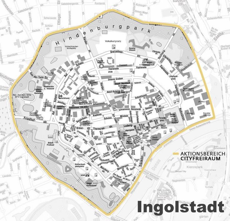 Ingolstadt City Center Map Map Ingolstadt Vintage World Maps