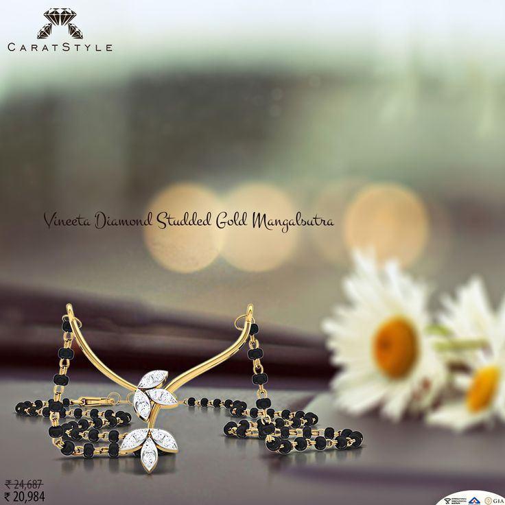 I think about you more than a lot. #mangalsutra #diamond…