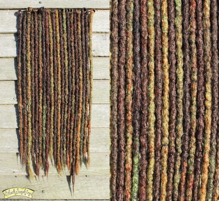 'Forest Witch' crochet synthetic dreads by Black Sunshine #syntheticdreads #synthdreads #dreads