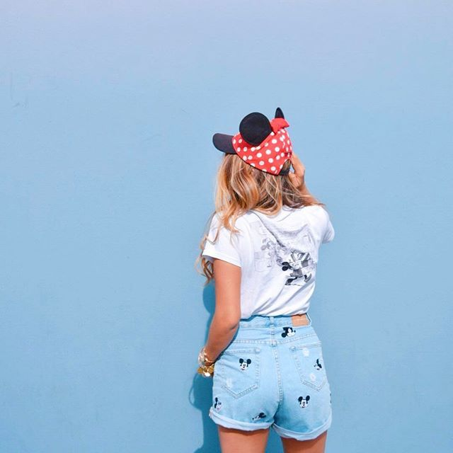 Love the new Zara Mickey shorts on @melonmainstreet! Give her a follow for some awesome pics around DLR and once again, some more fashion inspo!