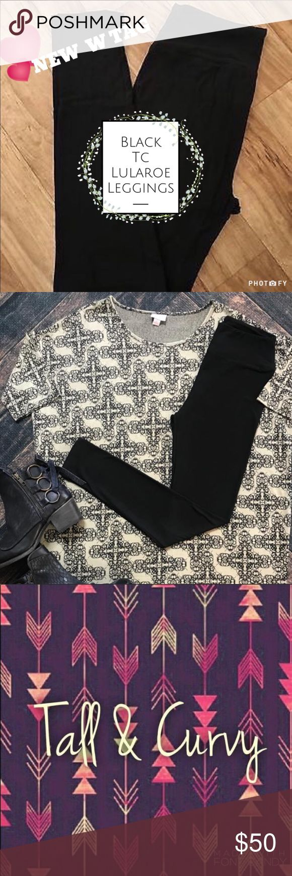 🆕🖤#Noir🖤#Black TC #LuLaRoe #Leggings NWT #RARE Hard to Find🖤 TC best fit (12-22)  Gorgeous and buttery soft! Style Staple right here- we hunted for them, as there was so much interest.   NWT🌟  Price Firm- high cost item🌹 Handpicked with Love 💜 Boutique Piece🍾 LuLaRoe Pants Leggings