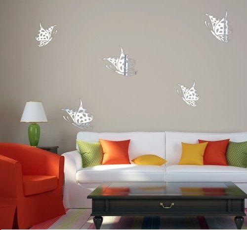 Akrylové zrkadlá na stenu s motívom motýľov