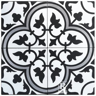 "Rustico Tile & Stone MeaLu 8"" x 8"" Roseton B Cement Tile & Reviews | Wayfair"