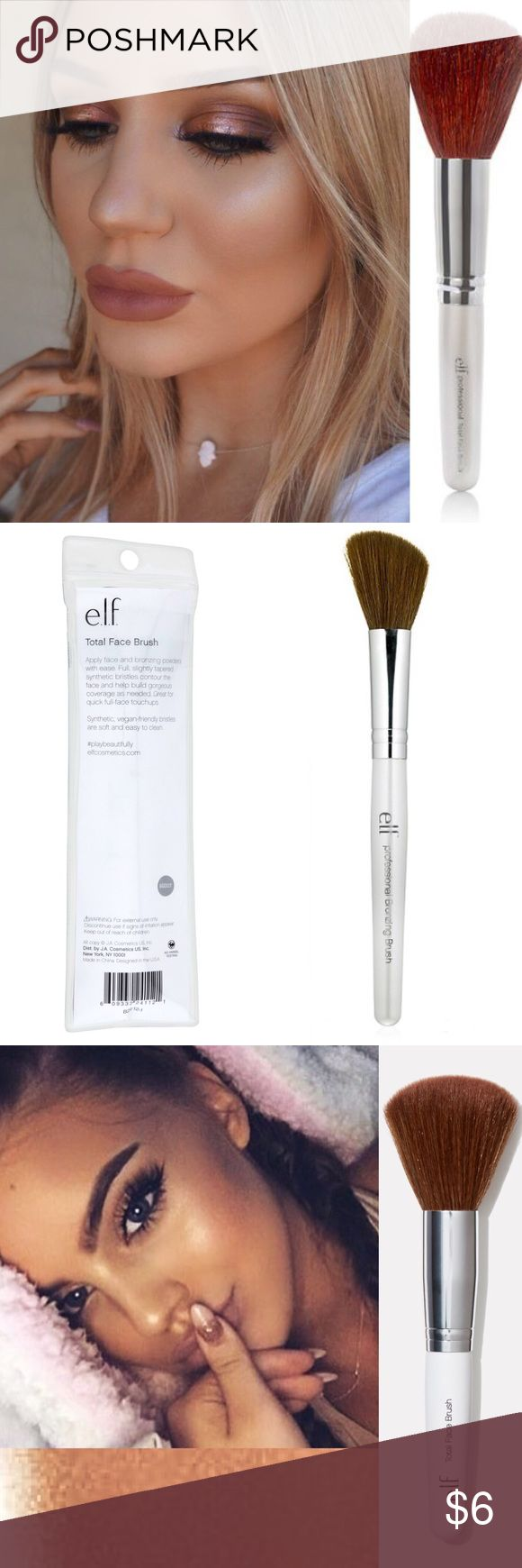 🔅E.L.F's *TOTAL FACE BRUSH*🔅W/GIFTS!🎁😍 🔅E.L.F COSMETICS🔅BRAND NEW & UNOPENED🔅INCREDIBLE ORDERS🔅SUPER FAST SHIPPING🔅INCLUDES BRAND NEW PRODUCT & UR FAVORITES PICKED OUT!🔅This synthetic haired Brush is soft, absorbent, & can be used with BOTH wet & dry products!! For best results, clean or wipe brush after each use! (ASK FOR BRUSH CLEANER SOLD SEPARATELY)🔅EXPEDITED SHIPPING🔅BUNDLE ONLY 3 ITEMS FOR AN *ADDITIONAL* 15% OFF OR PICK 2 FOR AN *EXTRA* 10% OFF NOW🔅ASK ME FOR SOLD…
