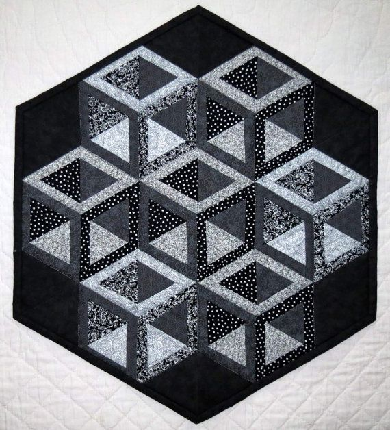3D Hollow Cube Table Mat Centerpiece Table Topper by MiniMade, $32.50