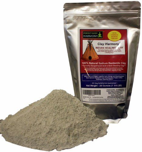 CLAY HARMONY 20 OZ Best Indian Healing Clay Sodium Bentonite Stronger than Calcium Bentonite Use For Facial Masks Bath Foot Baths Wraps  Poultices Aztec Tribes Used Clay As Secret Detox >>> To view further for this item, visit the image link.