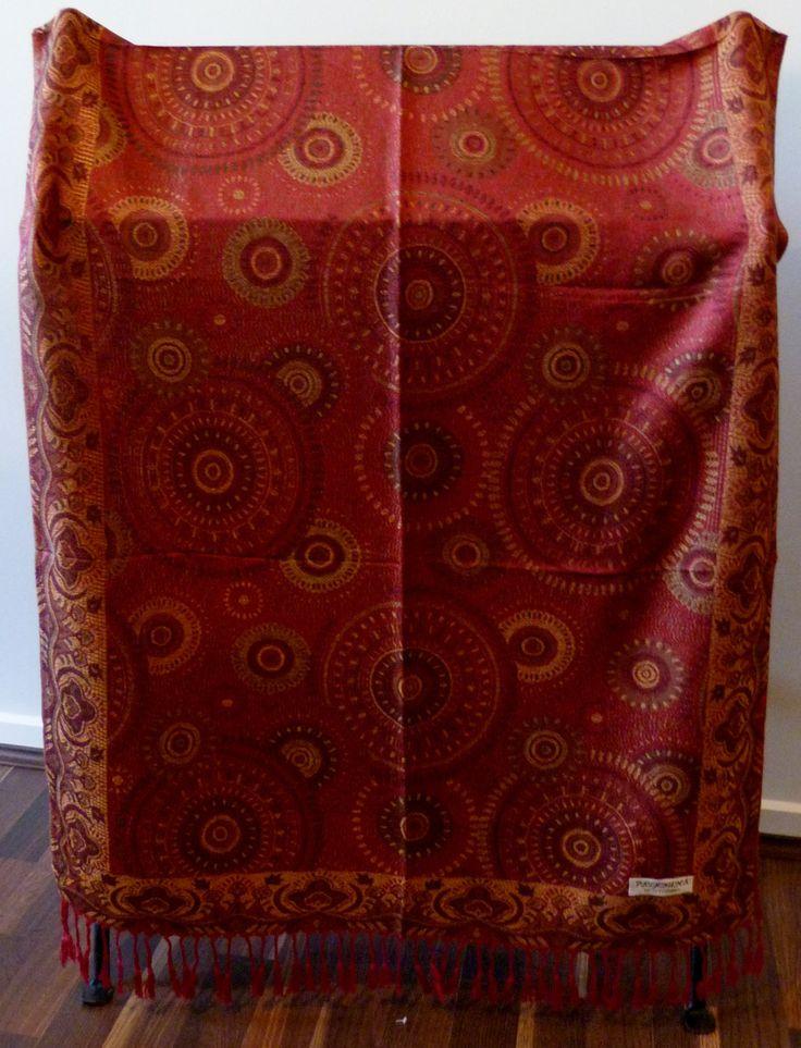 Scarf, Wrap, Shawl, Ladies Luxurious Vibrant Soft Pashmina, 100% Cashmere, Great Gift by WanderingThreadz on Etsy
