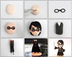 Turorial : How to make Harry Potter, Severus Snape, Ron Weasley et Draco Malfoy in polymer clay / Tutoriel : Réaliser Harry Potter, Severus Rogue, Ron Weasley et Drago Malefoy en pâte polymère source : blog.sina.com/7man