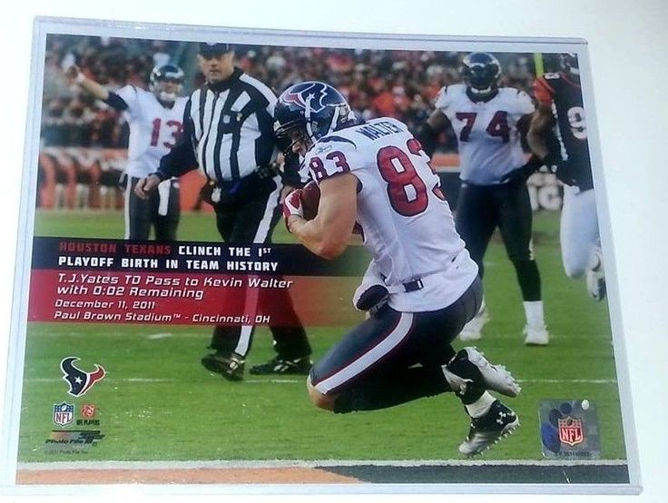 HOUSTON TEXANS NFL LICENSED Picture 8X10 Football PHOTO Kevin Walter 83 #NFLOFFICIALLICENSEDPHOTOFILE8x10