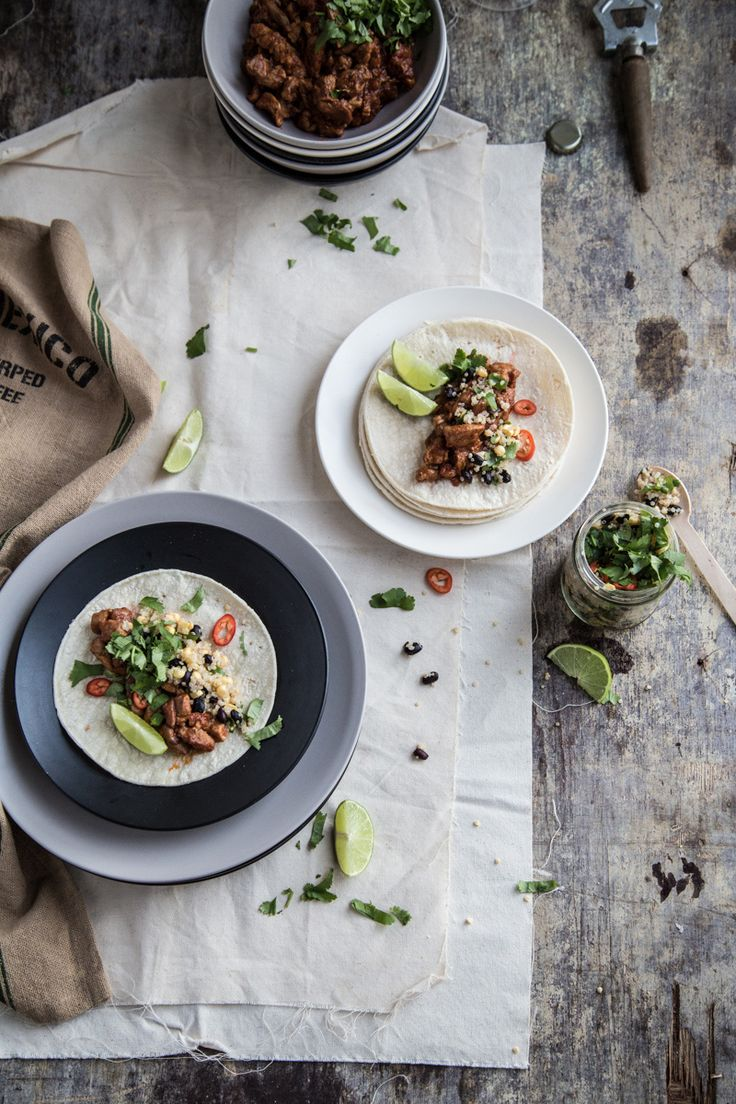 Chicken Lime Tacos With Black Bean And Quinoa Salad