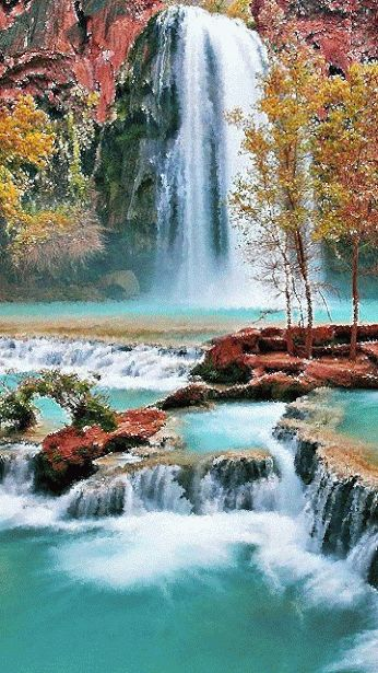 Spectacular Waterfall. One of the most beautiful and peaceful things in nature…
