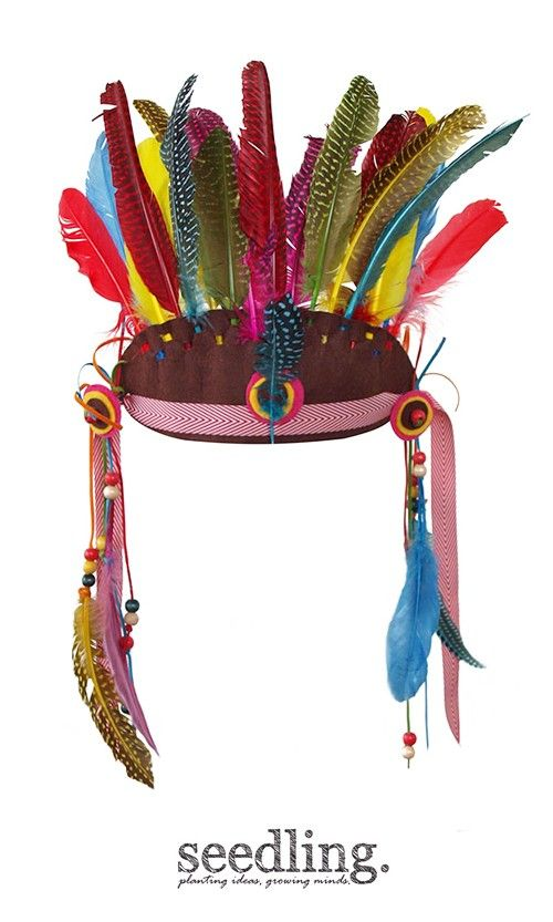 Make a feather crown fit for the chief of your tribe. Wear it here, there and everywhere!