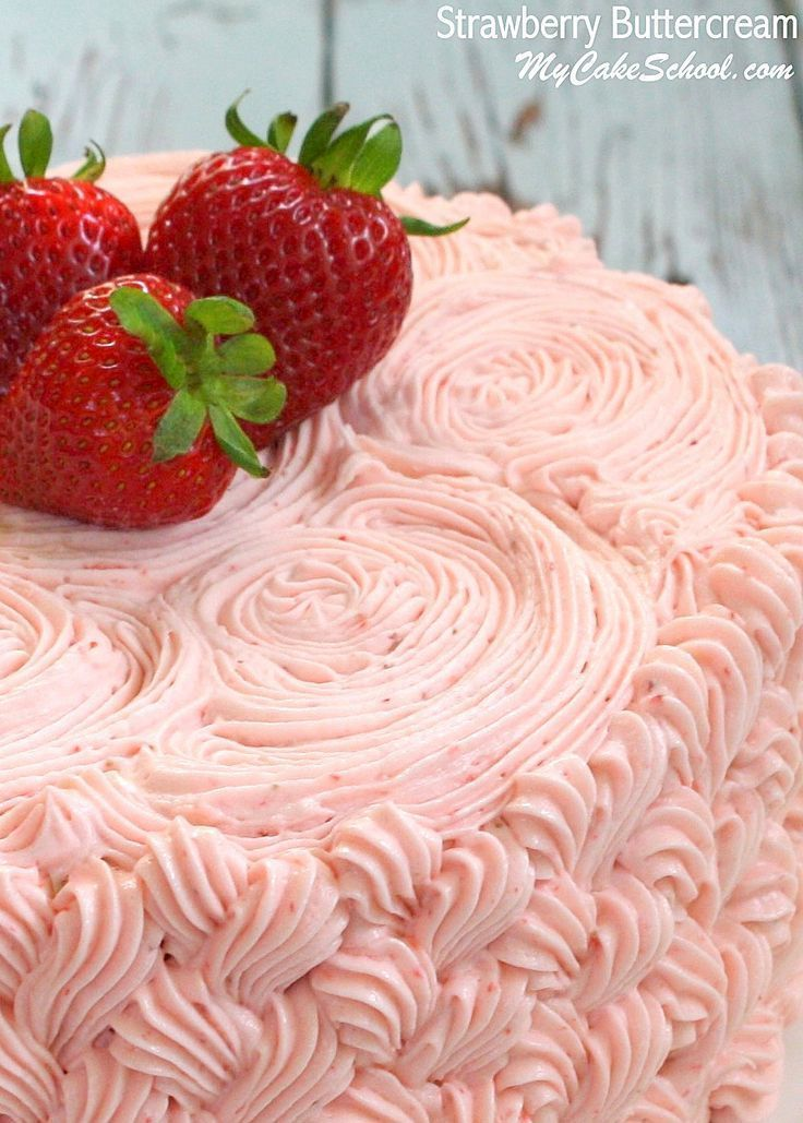 Beste Strawberry Buttercream   Recept (met afbeeldingen)   Vulling VX-98