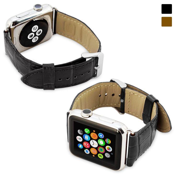 Snugg™- Apple Watch - Correa De Reloj De Cuero Verdadero (Marron) - 42 mm Correa Para el Apple Watch: Amazon.es: Relojes
