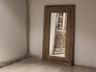 Originele oude houten spiegel large