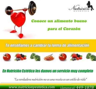 Conoce un alimento bueno para el corazón. NUTRICIÓN ESTÉTICA http://nutricionylaestetica.blogspot.com/2012/07/conoce-un-alimento-bueno-para-el.html?spref=tw