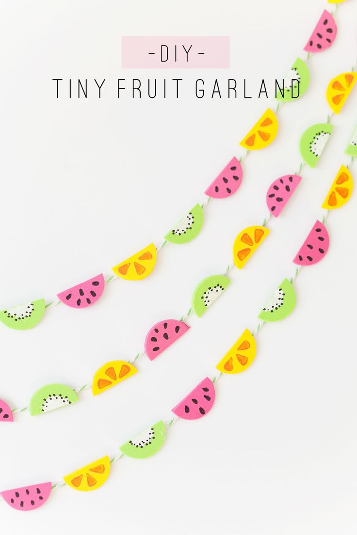 This tiny fruit garland is so cute and easy to make!