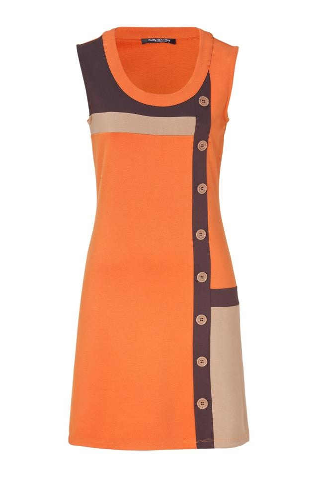 Betty Barclay color block orange