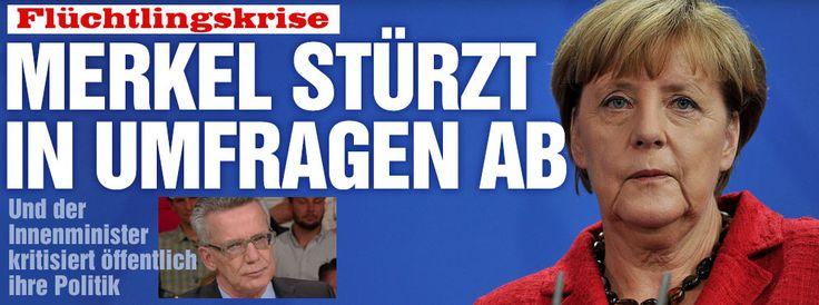 Dr. #Merkel stürzt in #Umfragen auf Platz 4 ab+Innenminister de #Maiziere kritisiert öffentlich die #Entscheidung der #Kanzlerin http://www.bild.de/politik/inland/fluechtling/merkel-stuerzt-in-politiker-ranking-ab-42715218.bild.html - #Merkel+#Siri-#Panne http://www.bild.de/politik/inland/angela-merkel/wikipedia-eintrag-bei-siri-suche-gehackt-42719338.bild.html
