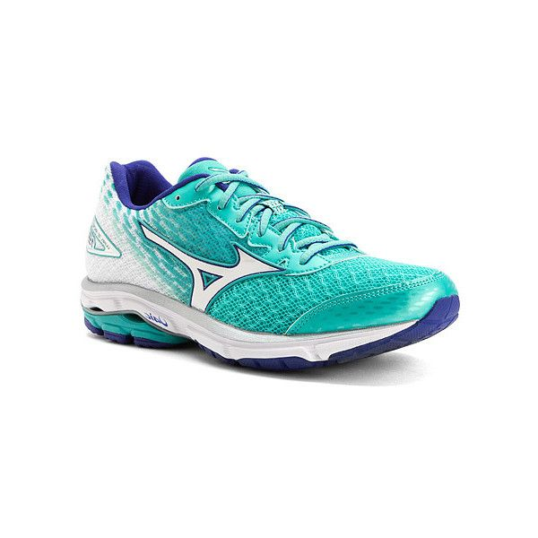 Mizuno Wave Rider 19 ($110) ❤ liked on Polyvore featuring shoes, athletic  shoes