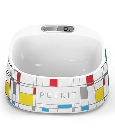 Another great find on #zulily! White Geometric Smart Digital Feeding Pet Bowl #zulilyfinds