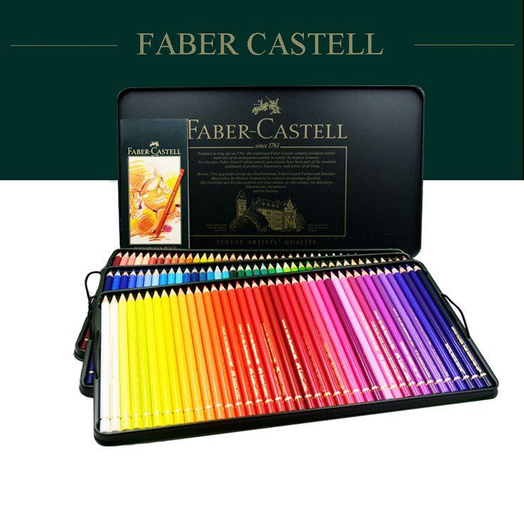 Faber Castell 120 Crayons de couleur Professionnel Lapis De Cor Huile Aquarelle Crayons de couleur Ensemble Art Fournitures pour Artiste