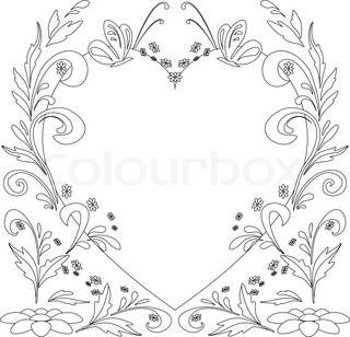 Abstrakt vektor baggrund med blomster og sommerfugle , konturer