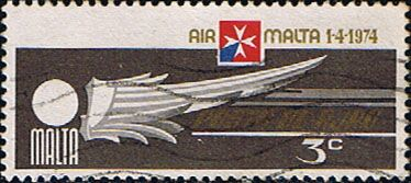 Malta 1974 Air Malta Fine Used                    SG 516 Scott C2 Other European and British Commonwealth Stamps HERE!