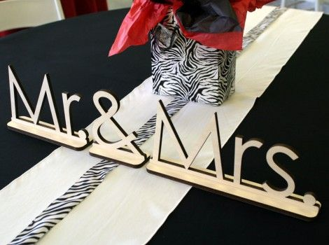 "Mr. & Mrs Standing Letters. 3/8"" Thick 
