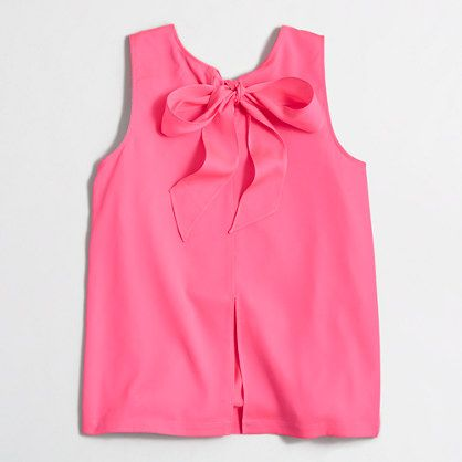 Factory bow-back top - sleeveless - FactoryWomen's Shirts & Tops - J.Crew Factory