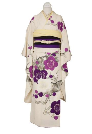 Purples and creams floral kimono.
