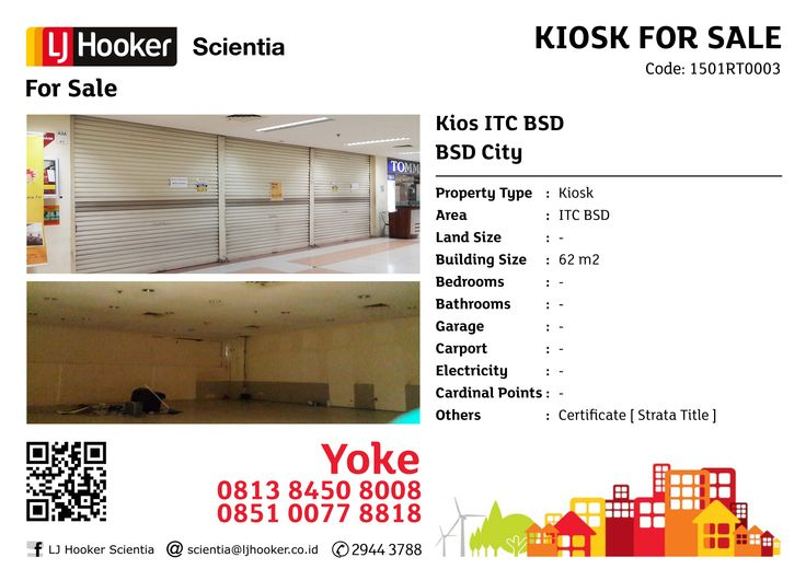 FOR SALE: Kios ITC BSD @ BSD City