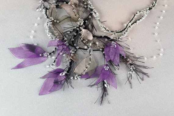 Bridal jewelry with dew drop Spring Mist Whimsical by FiveOClocks, $139.00: Dew Drop