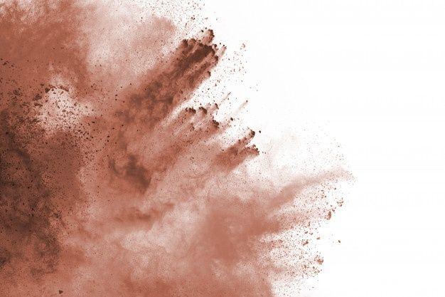 Esplosione Di Polvere Di Colore Marrone Su Sfondo Bianco Nuvola Colorata La Polvere Colorata Esplode Dipingi Holi Color Powder White Background Colorful Backgrounds