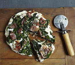 MyPanera Recipe: A Spinach and Prosciutto White Pizza: Prosciutto White, Breads Recipe, Restaurant Recipe, Panera Breads, Asiago Cheese, White Pizza, Breads Spinach, Copycat Recipe, Ham Pizza