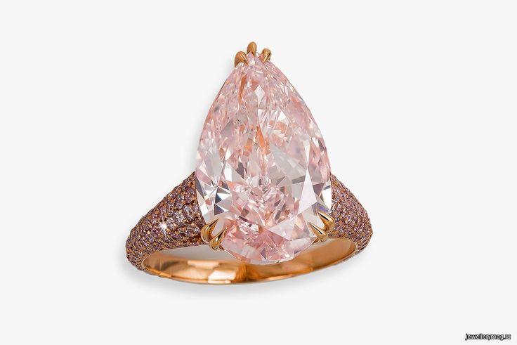 Кольцо David Morris с розовыми бриллиантами общим весом 9,1 карата