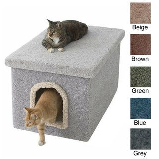 litter box enclosure from new cat condos with a removable lid this enclosure makes cleaning convenient inside its carpeted exterior is easycase