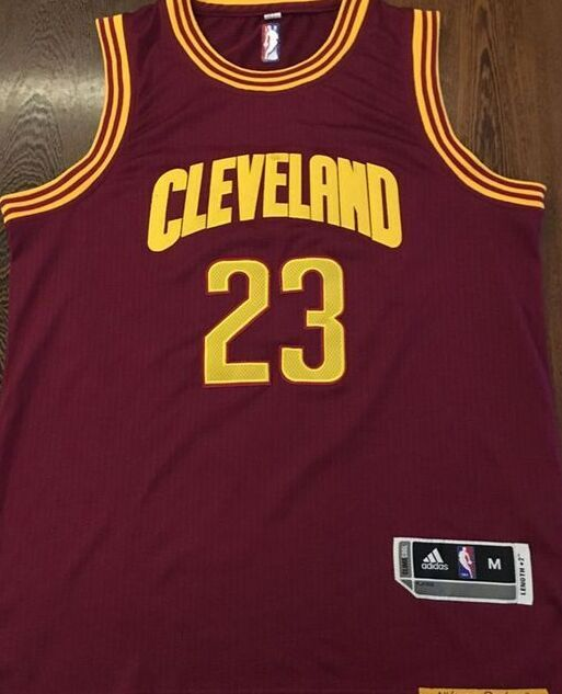 Cleveland Cavaliers NBA Mens #23 Lebro James Authentic Stitched Red Jersey