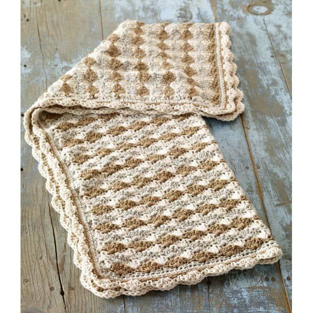 Crochet Shell Stitch Baby Blanket Pattern (Crochet) | Crochet shell ...