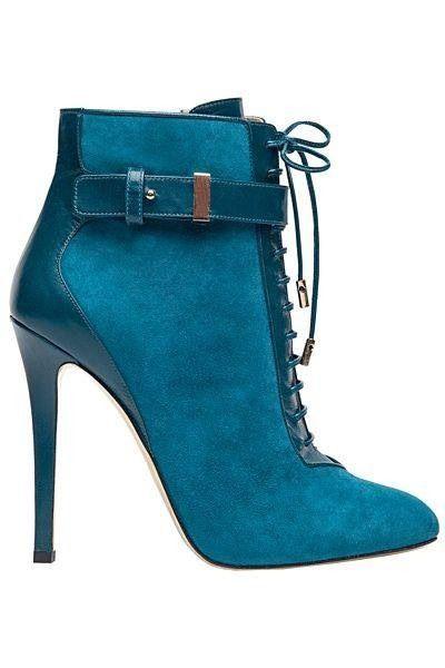 Elie Saab #teal #booties - 2013
