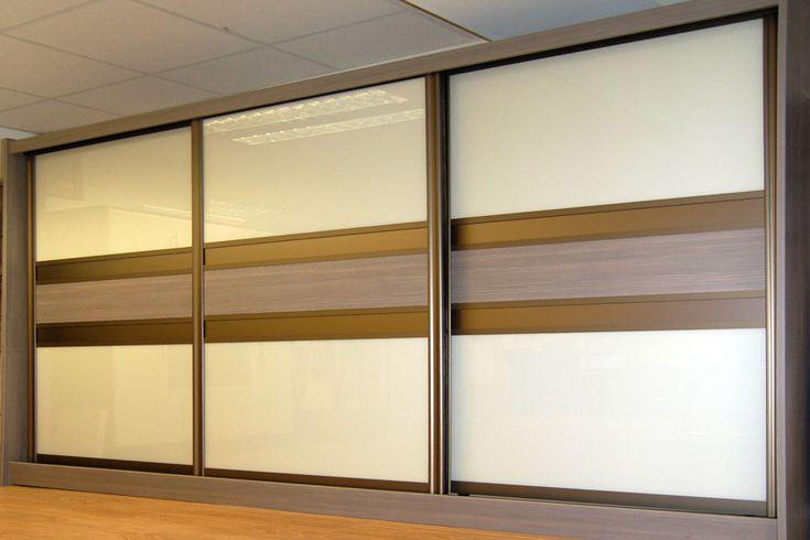 21 best custom made sliding wardrobe doors images on for Brown sliding glass doors
