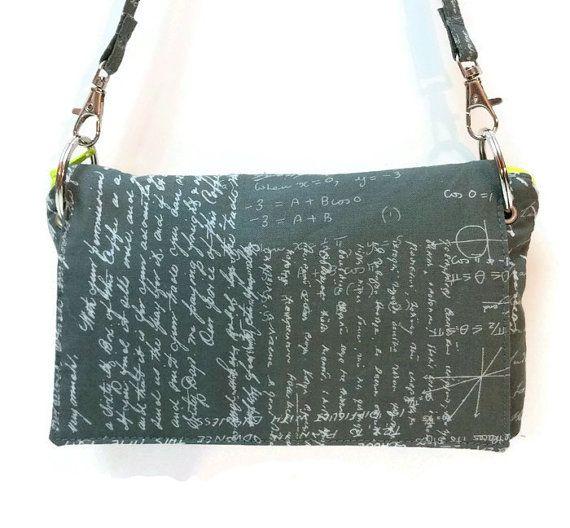 Check out this item in my Etsy shop https://www.etsy.com/ca/listing/256584101/math-geek-clutch-math-handbag