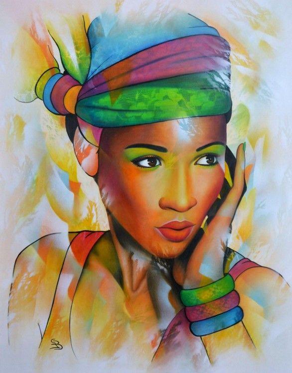 Super Les 25 meilleures idées de la catégorie Peinture de femme sur  RQ17