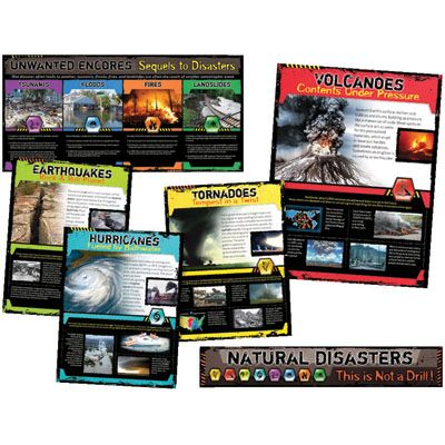 Social Studies | Classroom Decorations | Natural Disasters Bulletin Board Set | Learning Zone Educational Supply Store Online Shopping